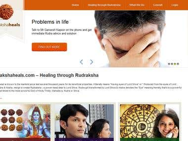 Website developement & Designing  of Rudrakshaheals