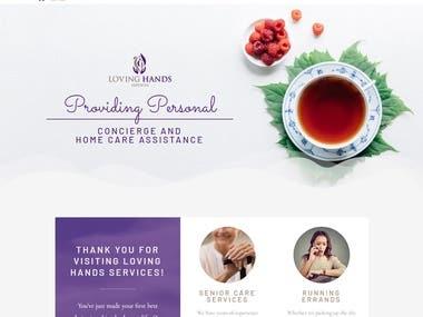 Loving Hands website