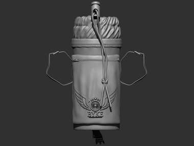 Bottle Holder Zbrush Design