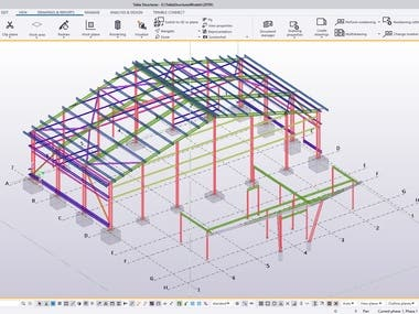 tekla detailing project - TV001