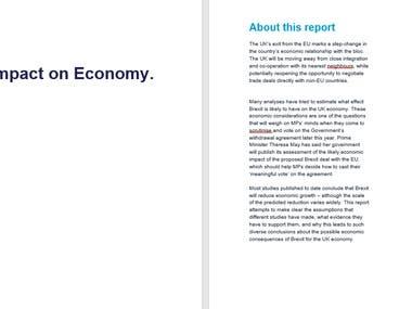 Brexit Impact on Economy.