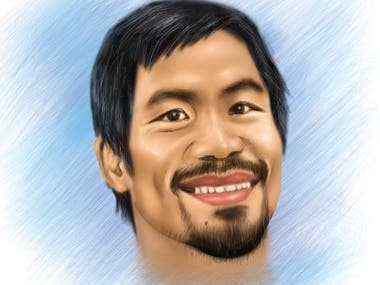 Manny Pacquiao Digital Painting