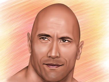 "Dwayne ""The Rock"" Johnson Digital Portrait"