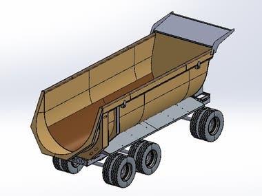 22 cubic meters dumping bodywork Hardox