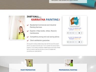 Home Page designed