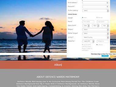 Defence Wards Matrimony