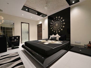 3D AND REAL BEDROOMS