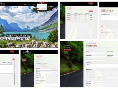 Website & client/product management