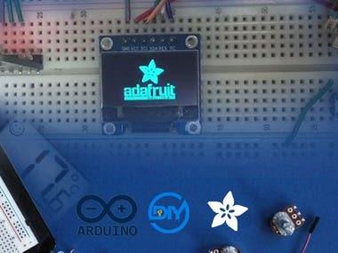 Temperature AVR display
