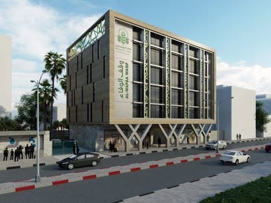 An architecture Design of AlWafaa Commercial Building