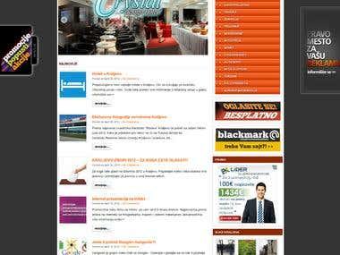 Promo & news site