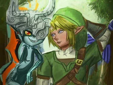 Link and Midna
