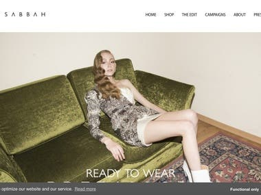 Fashion website with portfolio and shopping