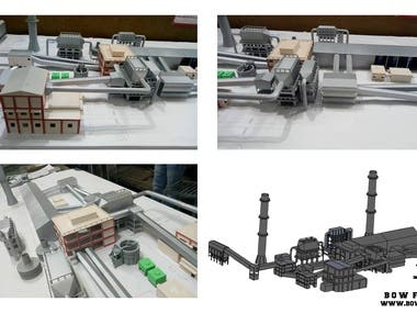 Scaled Factory Mock up Model