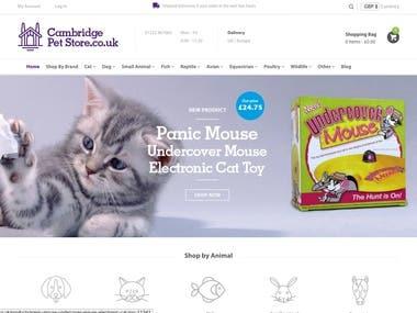 Cambridge Pet Store (Shopify)