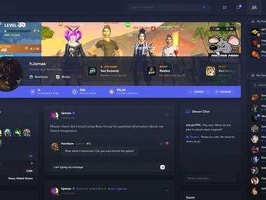 Gamer social network