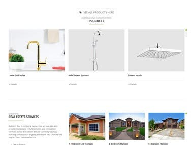 WordPress Website For Building Finishing Materials