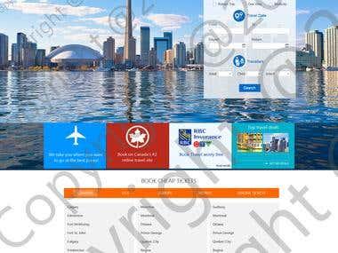 Holiday resort landing page website dsign