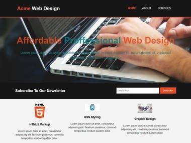Acme Web Theme