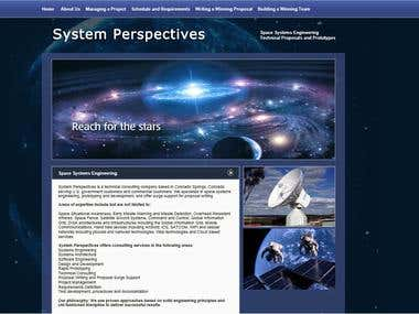 CMS for a Space site