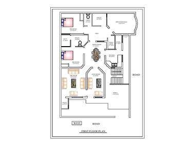floor planning of a residential building