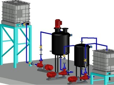 3D Pipes and Mechanical Equipment