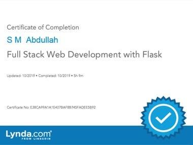 Full-stack development complete certificate