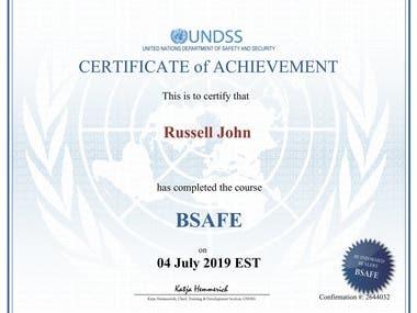 UNDSS BSAFE Certified