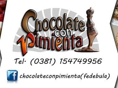 """tarjeta personal """"Chocolate con pimienta"""""""
