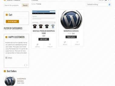 Wordpress Based Ecommerce Website (Theme Based)