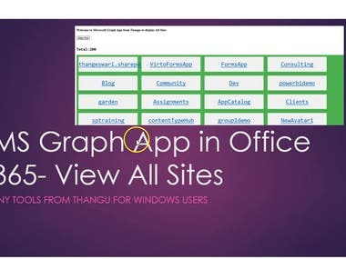 Microsoft Graph Apps from Thangu