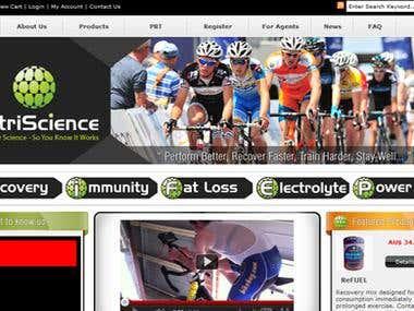 eCommerce Website Development www.nutriscience.com.au