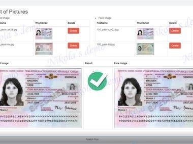 Card Face Matching web