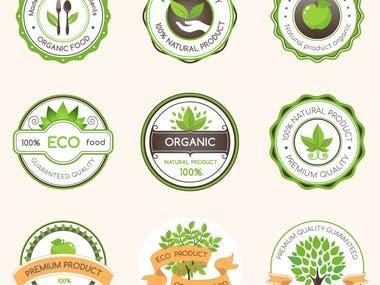 Emblem for organic food.