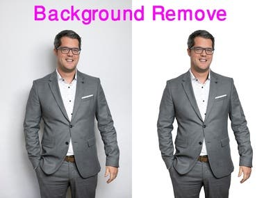 Any photo Background Removal, White back etc
