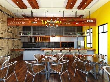 coffee shop _ interior design _ Riyadh