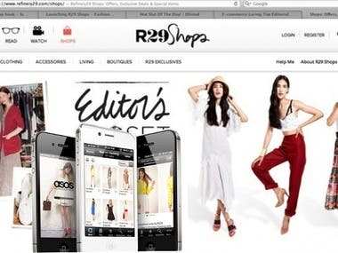 e-commerce website and mobile app