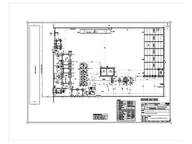 Foundation plan for Industrial plant