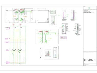 Water supply and Sanitary details for Office building