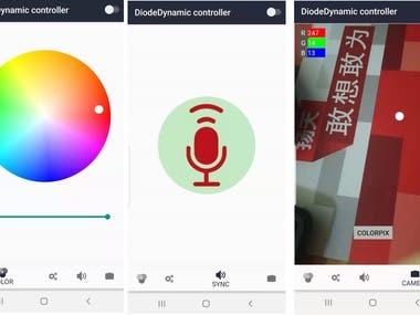 BluetoothLe control app .