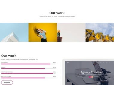Website for Creative agency