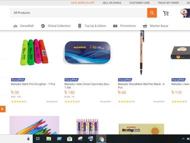 Listing on Largest online shopping mall DARAZ