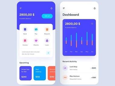 Wallet App UI/UX design