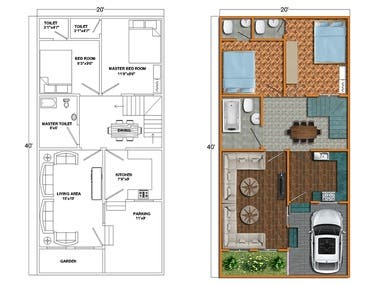 3d Floor Plan Using Photoshop With Very Fast Delive