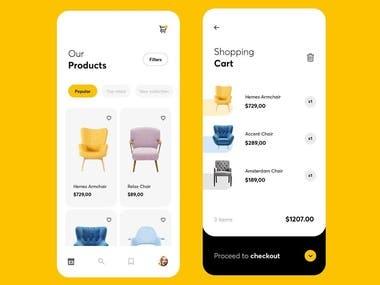 UI/UX Furniture shopping App