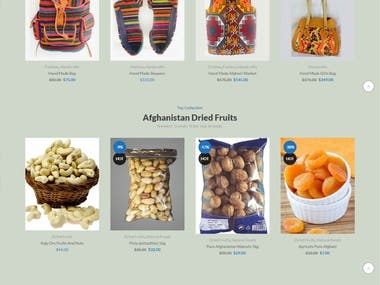 Website for Natural Products of Afghanistan