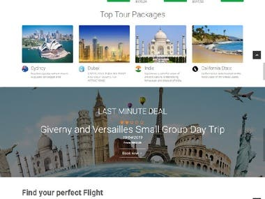 Website for Al-Medina Travel Agency | complete booking porta
