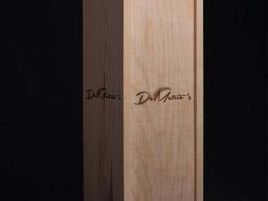 Wooden packaging for DeMetrio's
