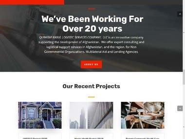 Logistic & Transportation services website