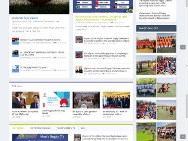 News & Magazine Website developed
